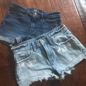 2 pairs Abercrombie low rise shorts size 24